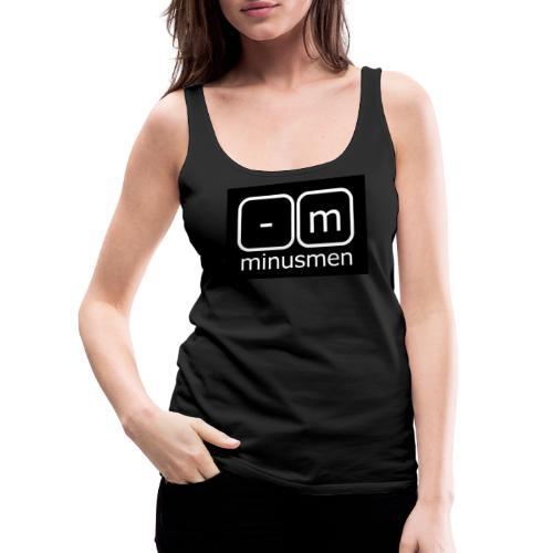 minusmen logo weiss - Frauen Premium Tank Top