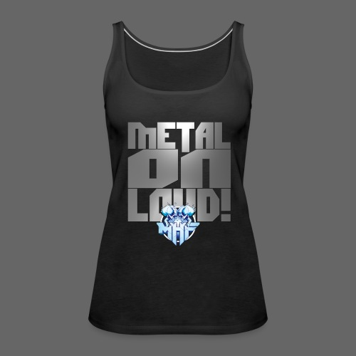 metalonloud large 4k png - Women's Premium Tank Top