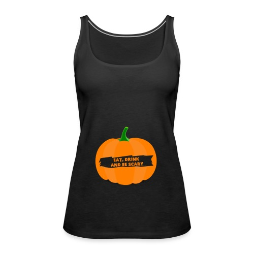 Halloween Pumpkin Shirt for Halloween - Women's Premium Tank Top