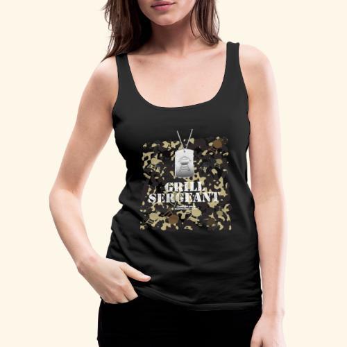 Grill Tshirt Design Grill Sergeant Grillen T-Shirt - Frauen Premium Tank Top