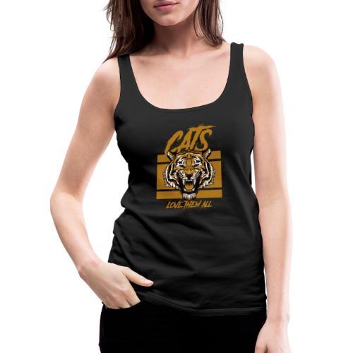 Cats, love them all - Vrouwen Premium tank top