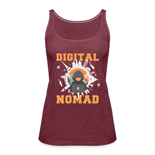 Digital Nomad - Frauen Premium Tank Top
