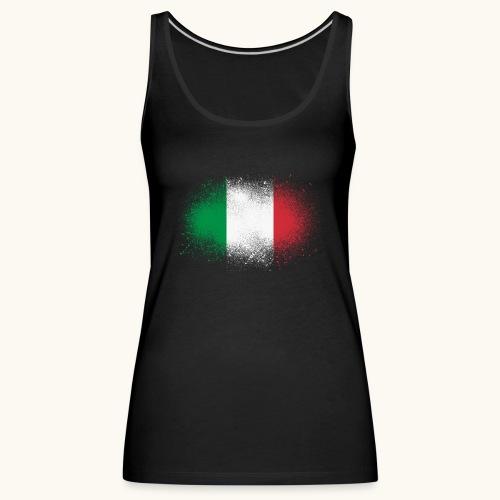 Italie cadeau drôle de drapeau italien grunge - Débardeur Premium Femme