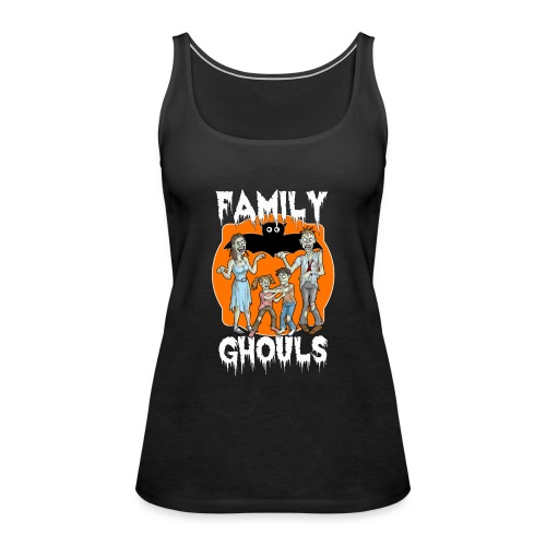 Zombie Family Ghouls Halloween Night Party - Women's Premium Tank Top