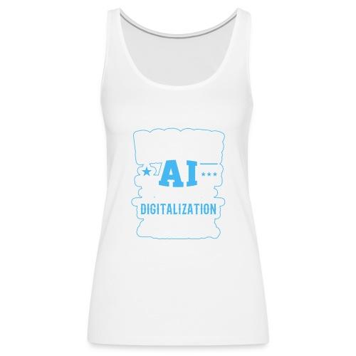 Robots Human Machine Ai Cyber Security - Canotta premium da donna