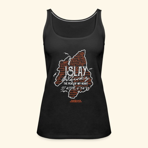 asting Notes Islay Whisky T Shirt Design - Frauen Premium Tank Top