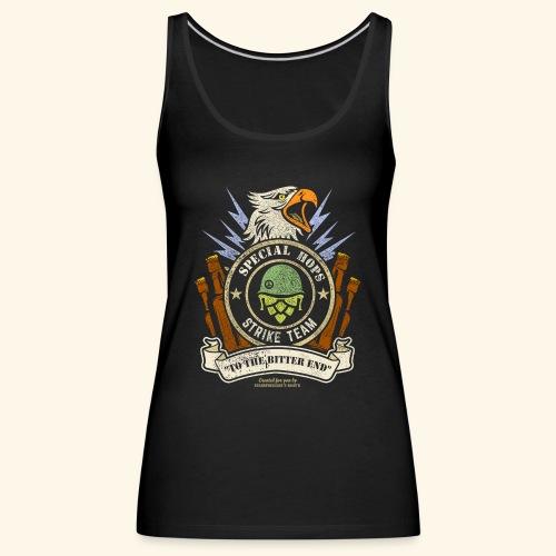 Craft Beer Fan T Shirt Special Hops Strike Team - Frauen Premium Tank Top