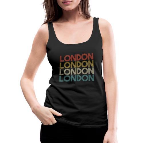 Retro London England Souvenir - Vintage London - Frauen Premium Tank Top
