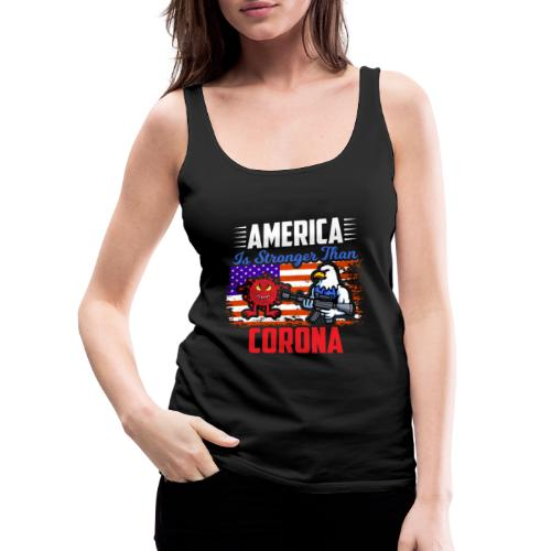 America against Corona - Frauen Premium Tank Top