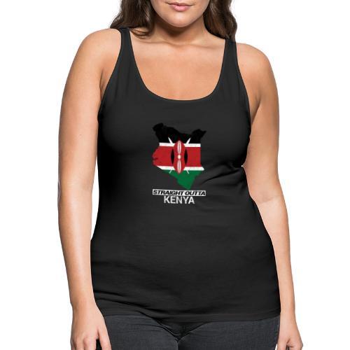 Straight Outta Kenya country map & flag - Women's Premium Tank Top