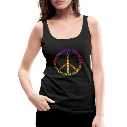 Peacezeichen FlowerPower - Frauen Premium Tank Top