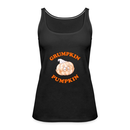 Grumpkin Pumpkin Halloween Night Fun Character - Women's Premium Tank Top