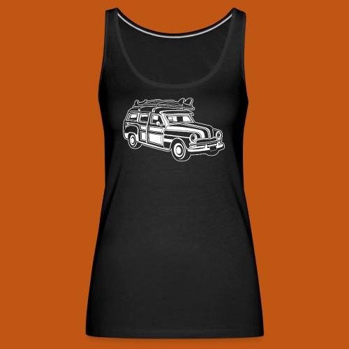 Chevy Cadilac Woodie / Oldtimer Kombi 01_weiß - Frauen Premium Tank Top