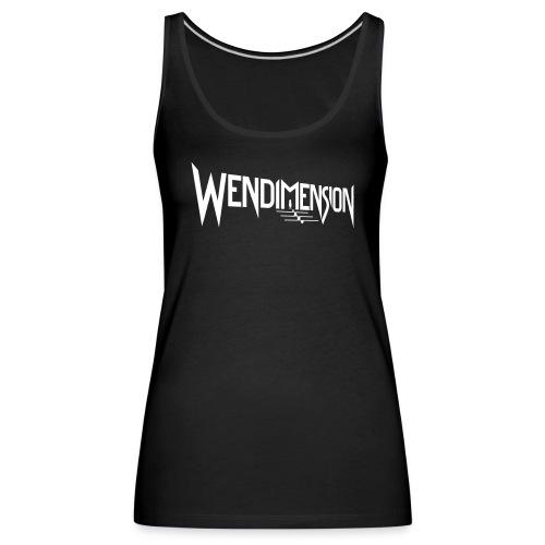 wendimension logo white - Naisten premium hihaton toppi
