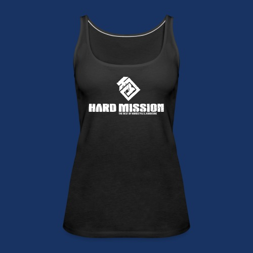 HARD MISSION LOGO Weiß - Frauen Premium Tank Top