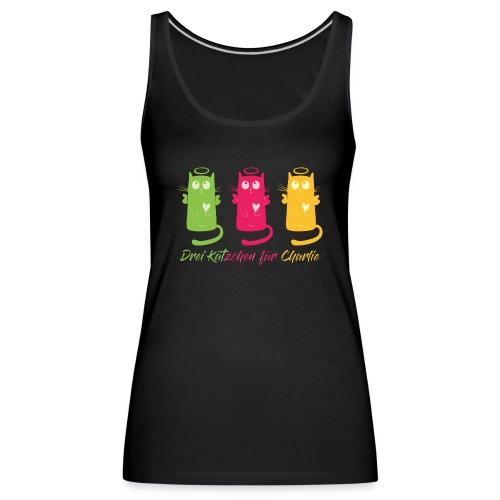 """Katze, """"Drei Kätzchen für Charlie"""" - Frauen Premium Tank Top"""