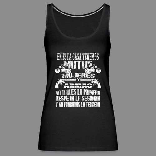 Motos, Mujeres y Armas - Camiseta de tirantes premium mujer