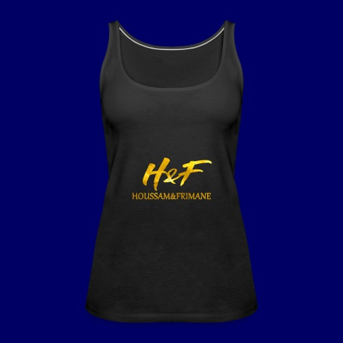 H&f gold logo - Canotta premium da donna
