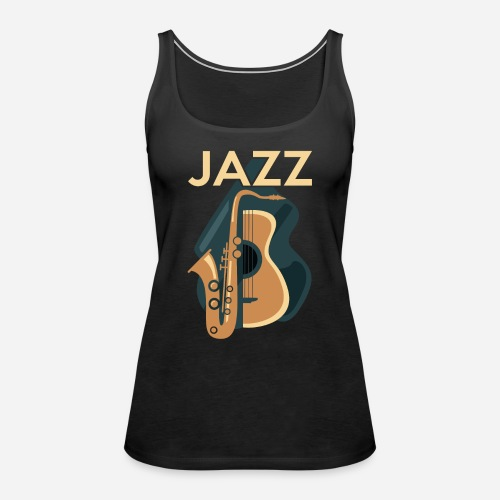 Jazz Gitarre mit Saxophon - Frauen Premium Tank Top