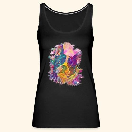 BULLDOG FRANCES - Camiseta de tirantes premium mujer