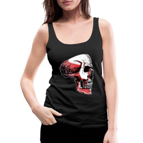 Crimewear© Skullside collored - Premiumtanktopp dam