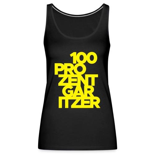 100 prozent garitzer prozent gelb - Frauen Premium Tank Top