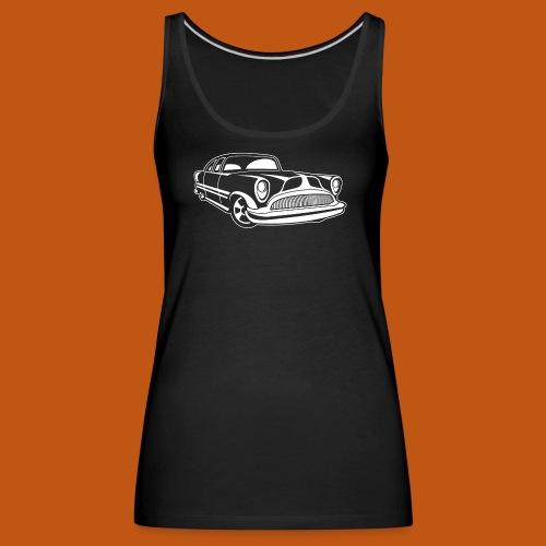 Lowrider / Oldtimer / Muscle Car 03_weiß - Frauen Premium Tank Top