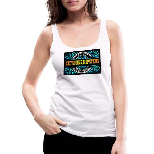 Black Vintage - KETAMINE HIPSTERS Apparel - Women's Premium Tank Top