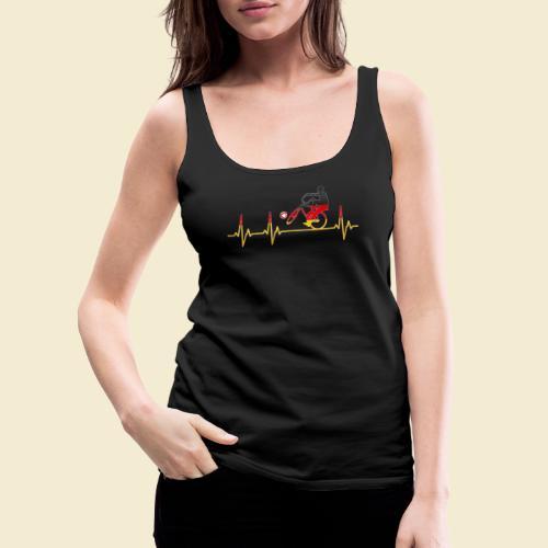Radball | Cycleball Heart Monitor Germany - Frauen Premium Tank Top