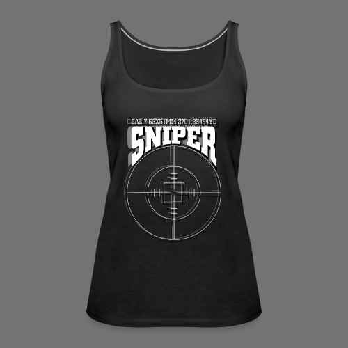 Sniper (białe) - Tank top damski Premium