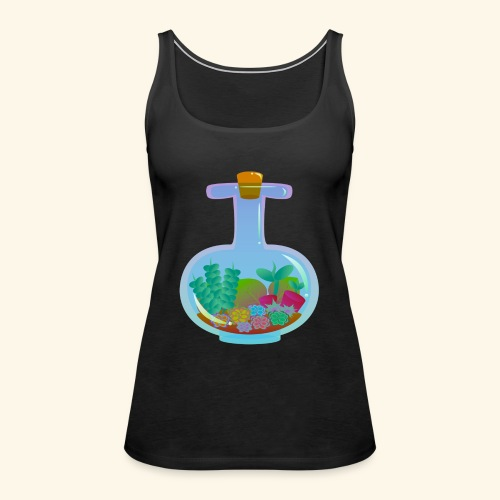 Bottled Succulents - Women's Premium Tank Top