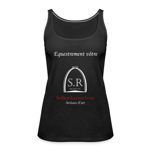 Logo S.R. Equestrement vôtre - Débardeur Premium Femme