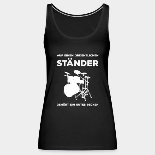 Ständer Becken Schlagzeug - Frauen Premium Tank Top