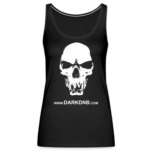 Dark DnB skull site - Women's Premium Tank Top