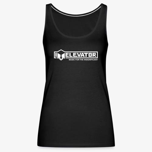 Irrelevator Logo wit - Vrouwen Premium tank top