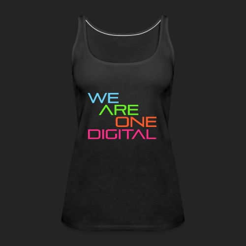 Official We Are One Digital Text Design - Women's Premium Tank Top