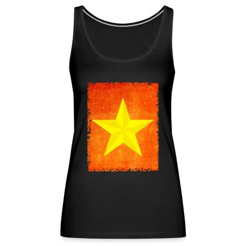 yellow amish barn star t-shirt design gift idea - Canotta premium da donna