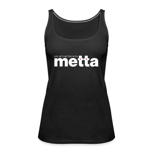 METTA_WHITE - Women's Premium Tank Top