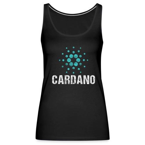 Cardano Ada Logo Cryptos Vintage - Frauen Premium Tank Top