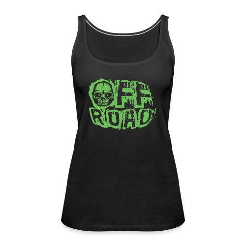 11A-13 OFF ROAD SKULL Textiles and gift products - Naisten premium hihaton toppi