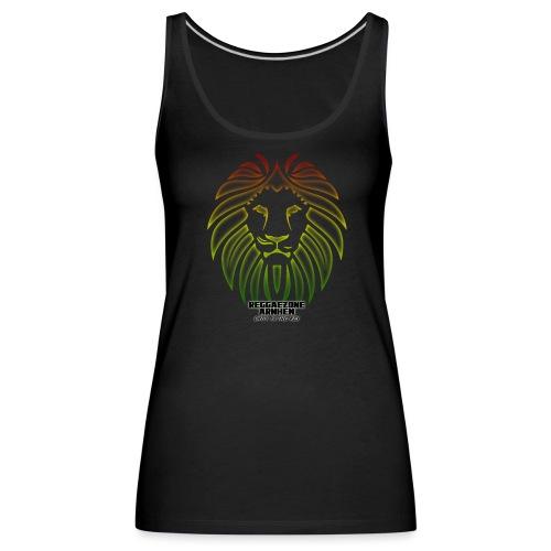 reggaezone lion TSHIRTONTWERP1 png - Vrouwen Premium tank top