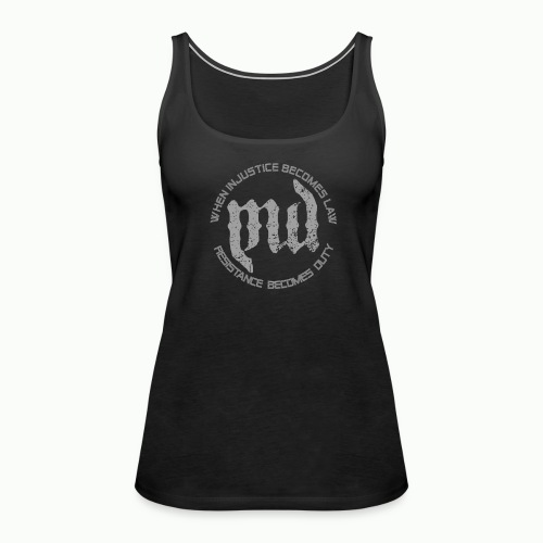 Mass Deception Resistance (grey print) - Vrouwen Premium tank top