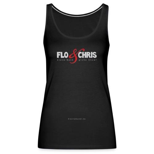 flo und chris logo weiß - Frauen Premium Tank Top