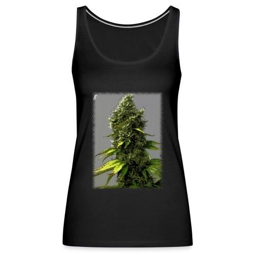 cartoon weed bud - Women's Premium Tank Top