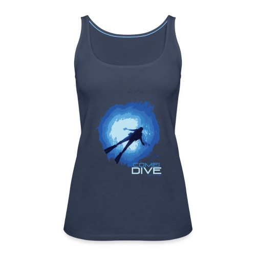 Come and dive with me - Tank top damski Premium