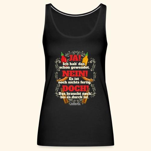 Grill T Shirt | witziger Spruch | Geschenkidee - Frauen Premium Tank Top