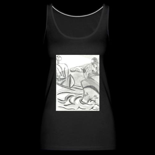 abstrack - Camiseta de tirantes premium mujer