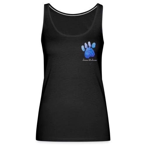 Tierfreund Choose Kindness Hundepfote Wasserfarben - Frauen Premium Tank Top