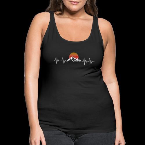 Heartbeat Berge - Herzschlag Wanderer T-Shirt - Frauen Premium Tank Top