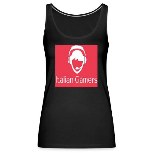 logo italian gamer - Canotta premium da donna
